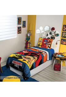 Edredom Ladybugâ® Solteiro- Azul & Amarelo- 150X200Cmlepper
