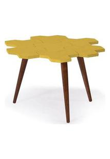 Mesa De Centro Colmeia C/ Favos Cacau/Amarelo -18202 Amarelo