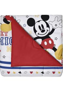 Edredom Infantil Vermelho Disney Mickey Play Santista