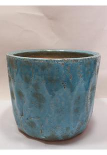 Vaso Rustico Azul Turquesa - Multicolorido - Dafiti