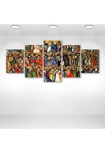 Quadro Decorativo - All Saints - Composto De 5 Quadros - Multicolorido - Dafiti