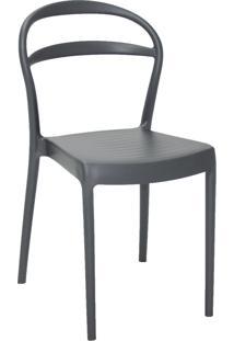 Cadeira Tramontina 92047007 Sissi Suma Com Encosto Vazado Grafite