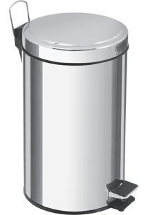 Lixeira Com Pedal Em Aço Inox Acabamento Polido De 20 Litros - Tramontina