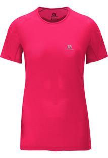 Camiseta Salomon Feminina Hybrid Ss Pink Gg