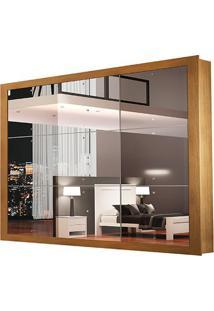 Guarda-Roupa Veneza Luxo - 3 Portas Espelhadas - Imbuia