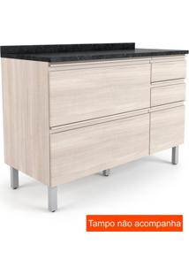 Balcão Para Cozinha Belíssima Ll Plus 2 Pt 3 Gv Saara Wood E Saara Wood Cetim 120 Cm