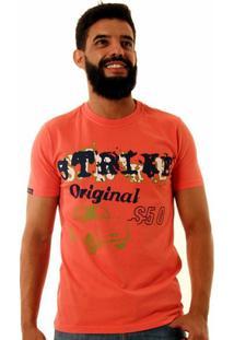 Camiseta Oitavo Ato Strike Masculina - Masculino-Coral