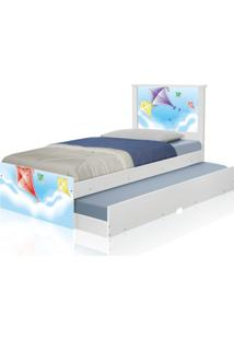 Bicama Juvenil Adesivada Pipas Casah - Azul - Menino - Dafiti