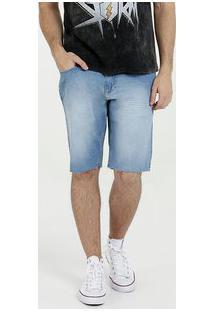 Bermuda Masculina Jeans Barra Desfiada Mr
