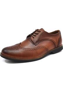 Sapato Social Tradicional - Oxford Florao - G.S. - 6900 - Whisky