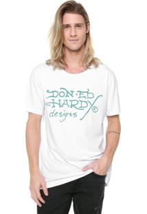 Camiseta Ed Hardy Don Ed Designs Branca