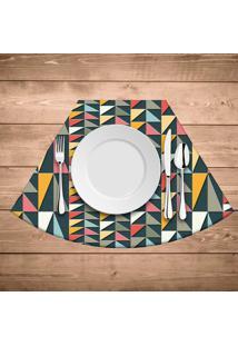 Jogo Americano Para Mesa Redonda Wevans Geometric Colors Kit Com 4 Pã§S - Multicolorido - Dafiti
