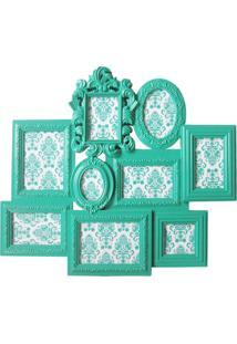 Porta Retrato Barroque Multiple Frame 67X58Cm Verde