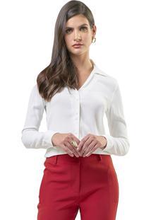 Camisa Mx Fashion Viscose Alissa Off White