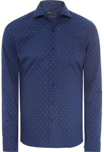 Camisa Masculina Urban Slim Fit - Azul