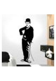 Adesivo De Parede Charlie Chaplin - O Vagabundo - P 100X30Cm