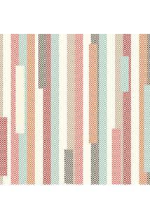 Papel De Parede Listrado Vintage Abstrato Retrô 57X270Cm