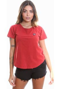 Camiseta Estonada De Algodão Le Julie Vermelha