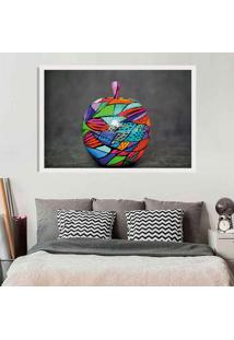 Quadro Love Decor Com Moldura Colored Apple Branco - Médio