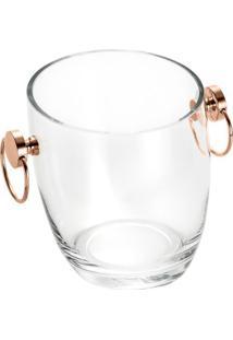 Balde Com Alã§A Asti- Incolor & Ros㪠Gold- 16Xã˜15Cm