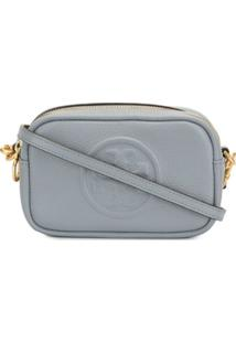 Tory Burch Bolsa Estruturada Mini Perry Bombe - Azul
