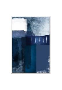 Quadro 90X60Cm Abstrato Textura Eskuila Moldura Branca Sem Vidro Oppen House