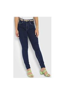 Calça Jeans Lez A Lez Skinny Bali Azul-Marinho