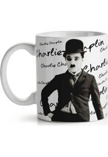 Caneca Retrô Charlie Chaplin Geek10 Branco