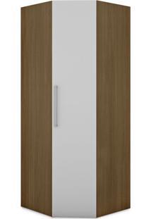 Guarda-Roupa Closet Modulado Vegas 1 Pt Ipê E Branco
