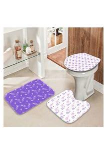 Jogo Tapetes Para Banheiro Coelhinhos Modernos Único
