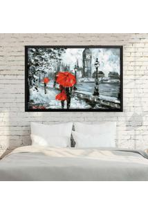 Quadro Love Decor Com Moldura London Red Preto Médio