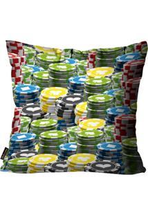 Capa Para Almofada Premium Cetim Mdecore Ficha Colorida 45X45Cm Verde