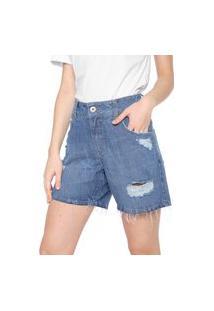 Bermuda Jeans Colcci Reta Daria 2 Azul