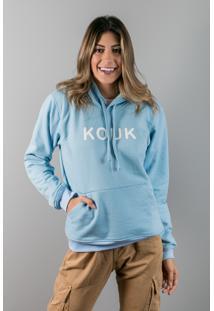 Blusa De Moletom Azul Claro Multicolorido - Kanui