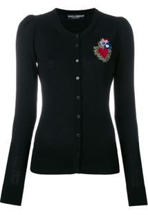 Dolce & Gabbana Cardigan 'Sacred Heart' - Preto