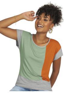 Blusa Feminina Manga Curta Verde