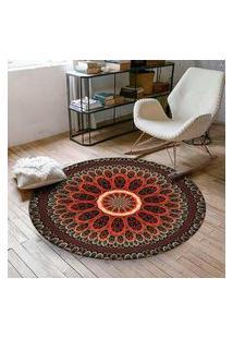 Tapete Love Decor Redondo Wevans Mandala Red 94Cm