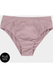 Calcinha Alta Sem Costura Lupo Plus Size Feminina - Feminino