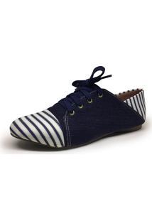 Oxford Aniz Sapatilha Jeans Ancara Azul Marinho