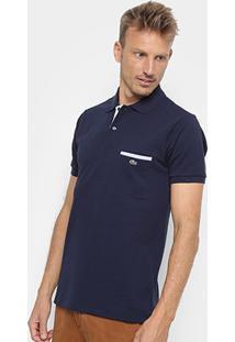 Camisa Polo Lacoste Original Fit Bolso - Masculino