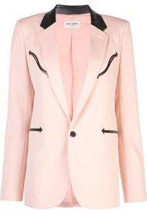 Saint Laurent Blazer Com Abotoamento Único - Rosa