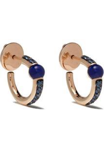 Pomellato Par De Brincos Em Ouro Rosé 18K Com Lápis Lazuli E Safira - Blue
