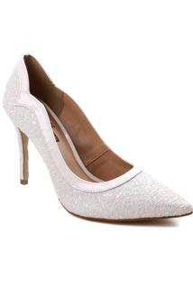 Sapato Scarpin De Noiva Zariff Brilho