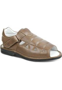 Sandalia Masculina Polo State Confort - Masculino-Marrom Claro