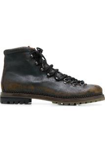 Premiata Ankle Boot De Couro - Marrom