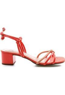 Sandália Salto Alto M Shuz Coral Feminina - Feminino