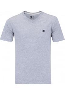 Camiseta Timberland Dunstan Rvr V Neck - Masculina - Cinza