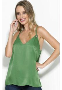 Blusa Com Ilhós Verde