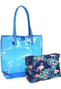 Bolsa Pagani Tote Bag Feminina - Feminino-Azul