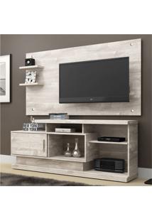 Rack Com Painel Para Tv 47 Polegadas Camaçari Champanhe 156 Cm